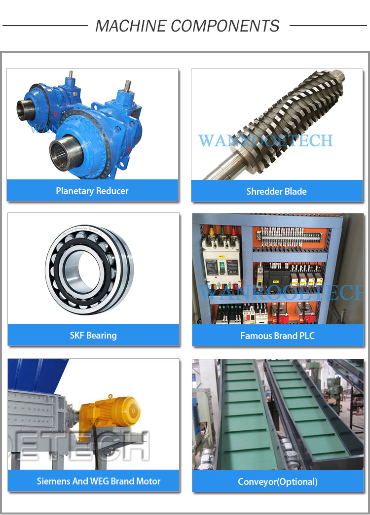 Double Shaft Shredder,Two-Shaft Shredder,Dual Shaft Industrial Shredders,Heavy Duty Shredder ,Wood ShredderComponents