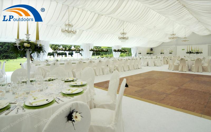 户外白色PVC铝合金人字形婚庆婚礼活动篷房