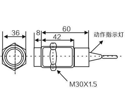 CM30 M30 capacitance proximity switch sensor