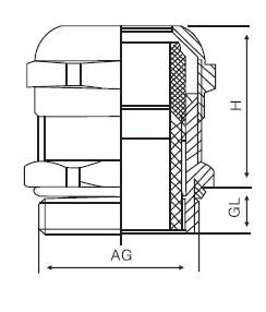 黄铜电缆防水接头德制螺纹PG型系列