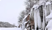 Taihang is not alone in winter, ice falls accompanied by you