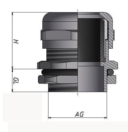 不锈钢电缆防水接头管制螺纹NPT型