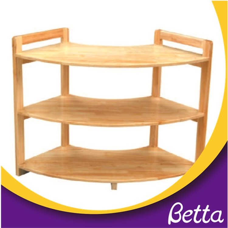 Preschool Furniture Children Wooden Movable Bookshelf