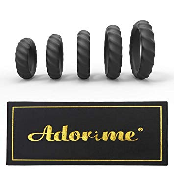 Adorime Silicone Cock Rings Set Sex Toys
