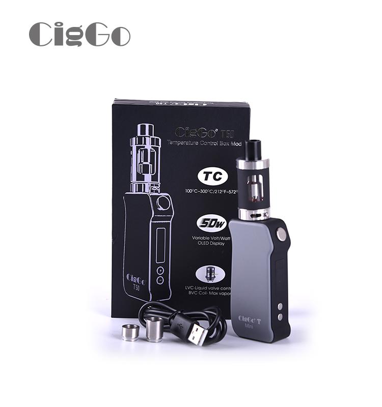 CigGo T50W大煙霧溫控調壓套裝蒸汽煙盒子